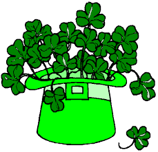 shamrocks in hat